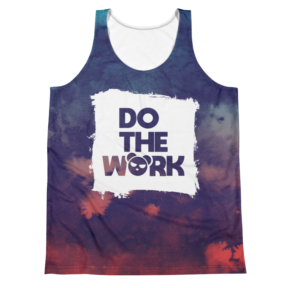 """Do the Work"" Multi-Colored Dye Tank"