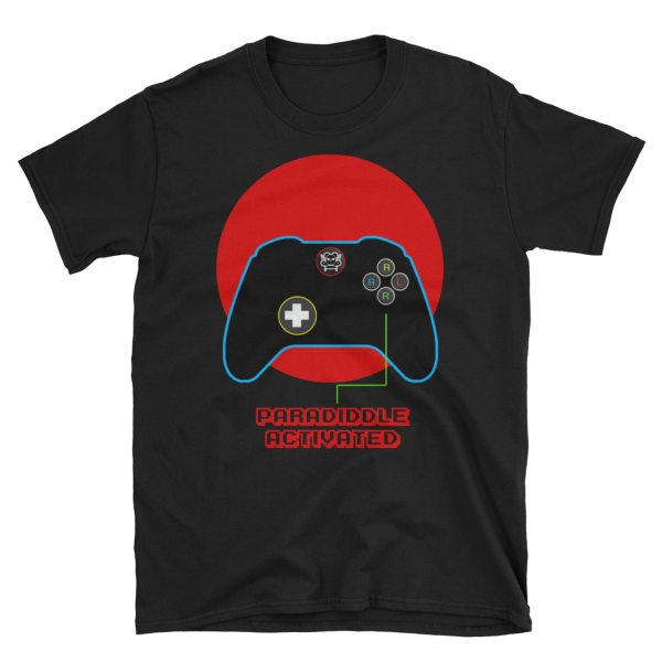 Paradiddle Controller Tee (available in black and navy)