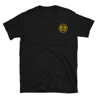 Embroidered Emblem Tee - Gold