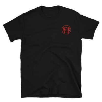Embroidered Emblem Tee - Red