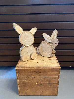 Handmade Wood Bunny