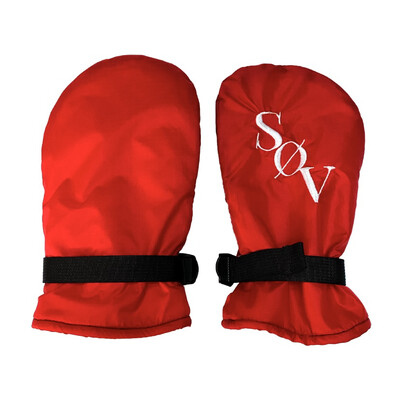 Red On Red On White V2 Mitts Sz. M-L