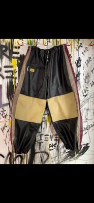 Black/Maroon/Tan Chute Pants Sz. L-XL