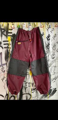 Maroon/Black Chute Pants Sz. M-L