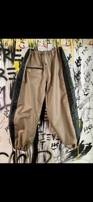 Beige/Green/Black Chute Pants Sz. L-XL