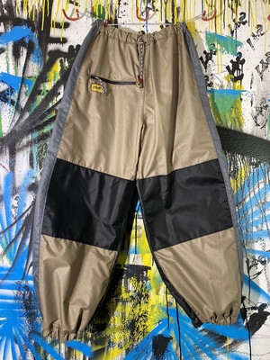 Chute Pants Sz. L Beige/Black/Grey