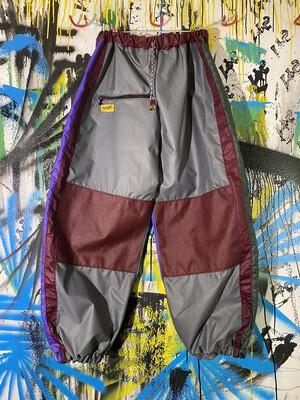 Chute Pants Sz. XL Grey/Maroon/Purple/Green