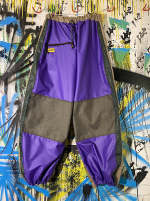 Chute Pants Sz. XL Purple/Green/Beige