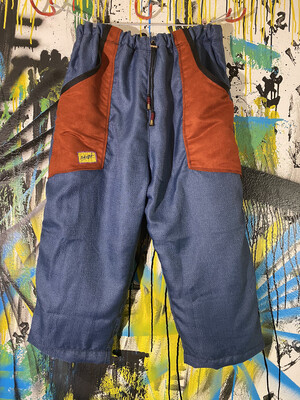 Daily Pants Sz. L Silk Lined Blue/Suede