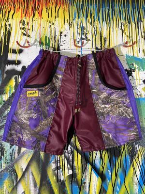 Anytime Shorts Sz. M Maroon/Purple/Tru Timber