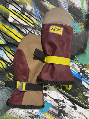 V2 Mitts Sz. L Maroon/Beige Removable Liners