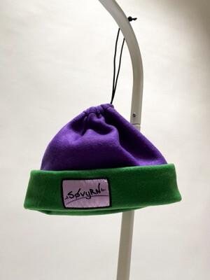 Sinch Top Beanie/Facemask Purple/Green