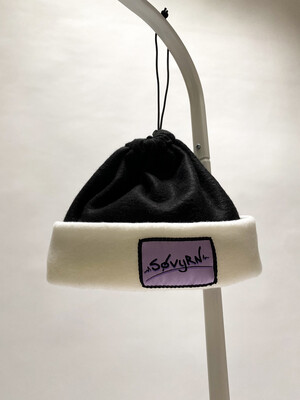 Sinch Top Beanie/Facemask Black/White