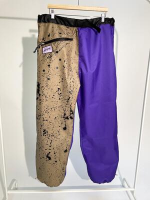 Purple Spackle Packabke Pants Sz. L