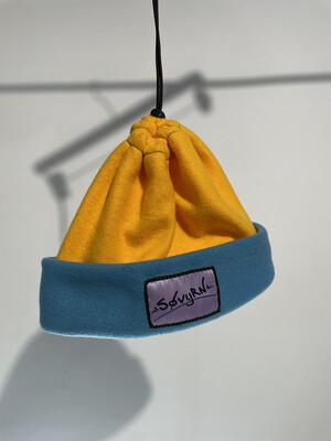 Sinch Top Beanie/Facemask Yellow/Light Blue