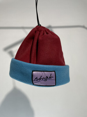 Sinch Top Beanie/Facemask Maroon/Light Blue