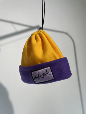 Sinch Top Beanie/Facemask Yellow/Purple