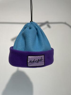 Sinch Top Beanie/Facemask Light Blue/Purple