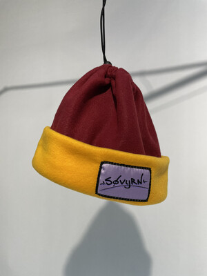 Sinch Top Beanie/Facemask Maroon/Yellow