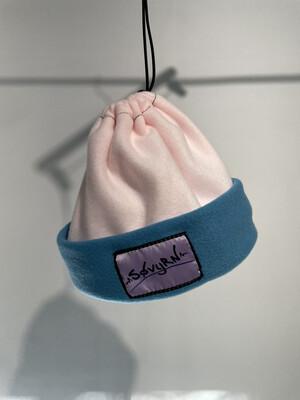 Sinch Top Beanie/Facemask Pink/Light Blue