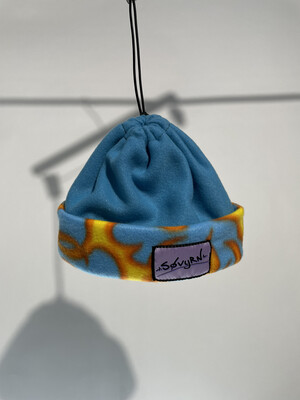 Sinch Top Beanie/Facemask Teal Flames