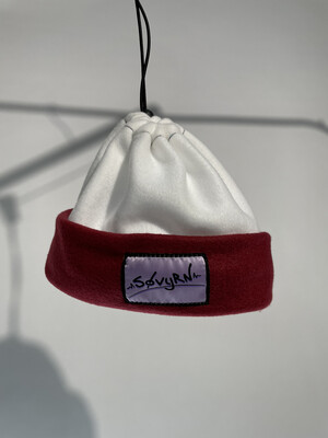 Sinch Top Beanie/Facemask White/Maroon