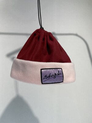 Sinch Top Beanie/Facemask Maroon/Pink
