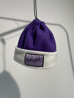 Sinch Top Beanie/Facemask Purple/White