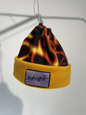 Sinch Top Beanie/Facemask Yellow Flames