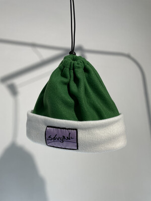 Sinch Top Beanie/Facemask Green/White