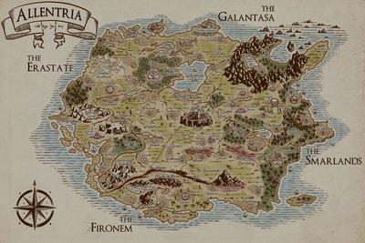 Map of Allentria Poster