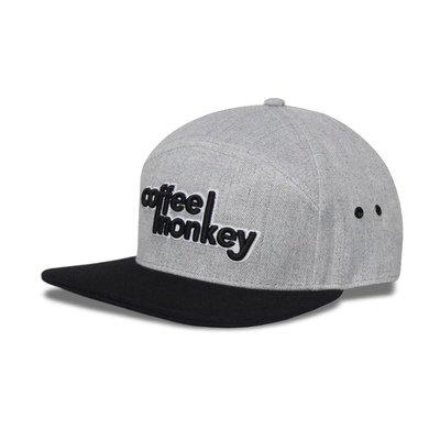 """SWAG"" Black & Grey w/Leather Patch Snapback Hat"