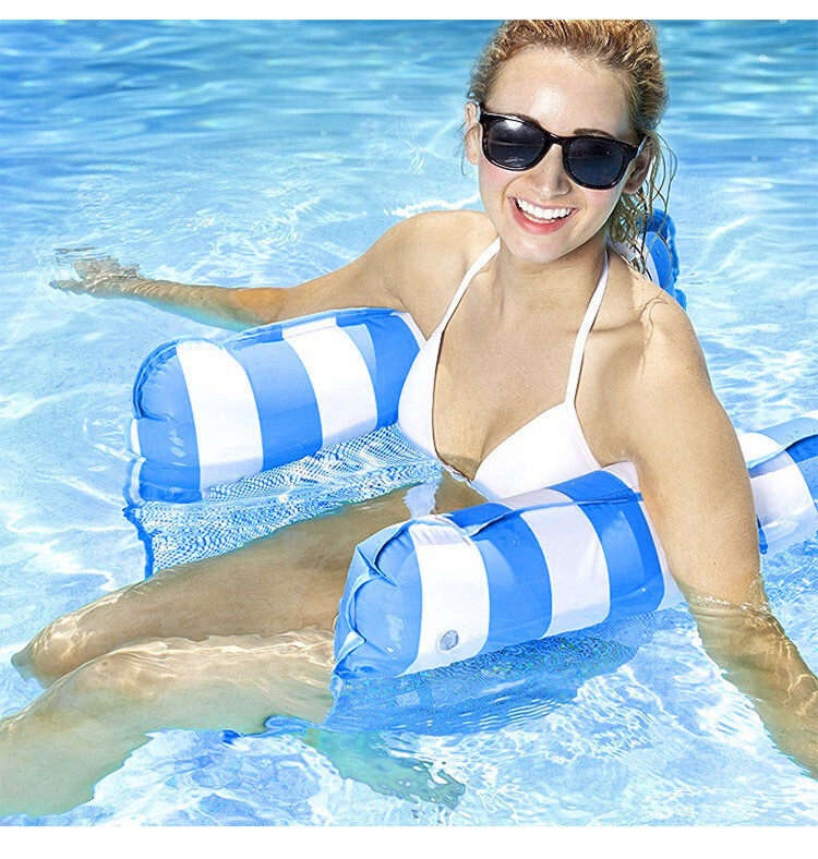 12 Inflatable Pool Floats 4-in-1 Monterey Hammock