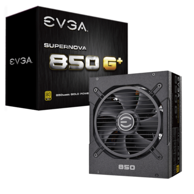 EVGA SuperNOVA 850 G+, 80+ Gold 850W, Fully Modular