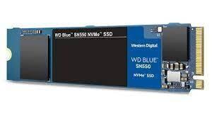 WD Blue SN550 1TB PCIe 3.0 m.2 NVMe SSD