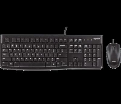 Logitech Desktop MK120 - Keyboard & Mouse, USB