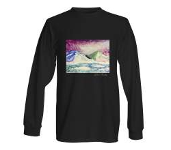 Long Sleeve Black Crewneck with Lea Keeley Original Design