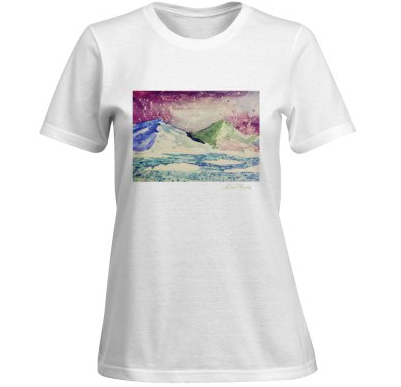 White Womens T-shirt with Lea Keeley Original Design