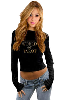 World Of Tarot Empowered Crop Sweatshirt