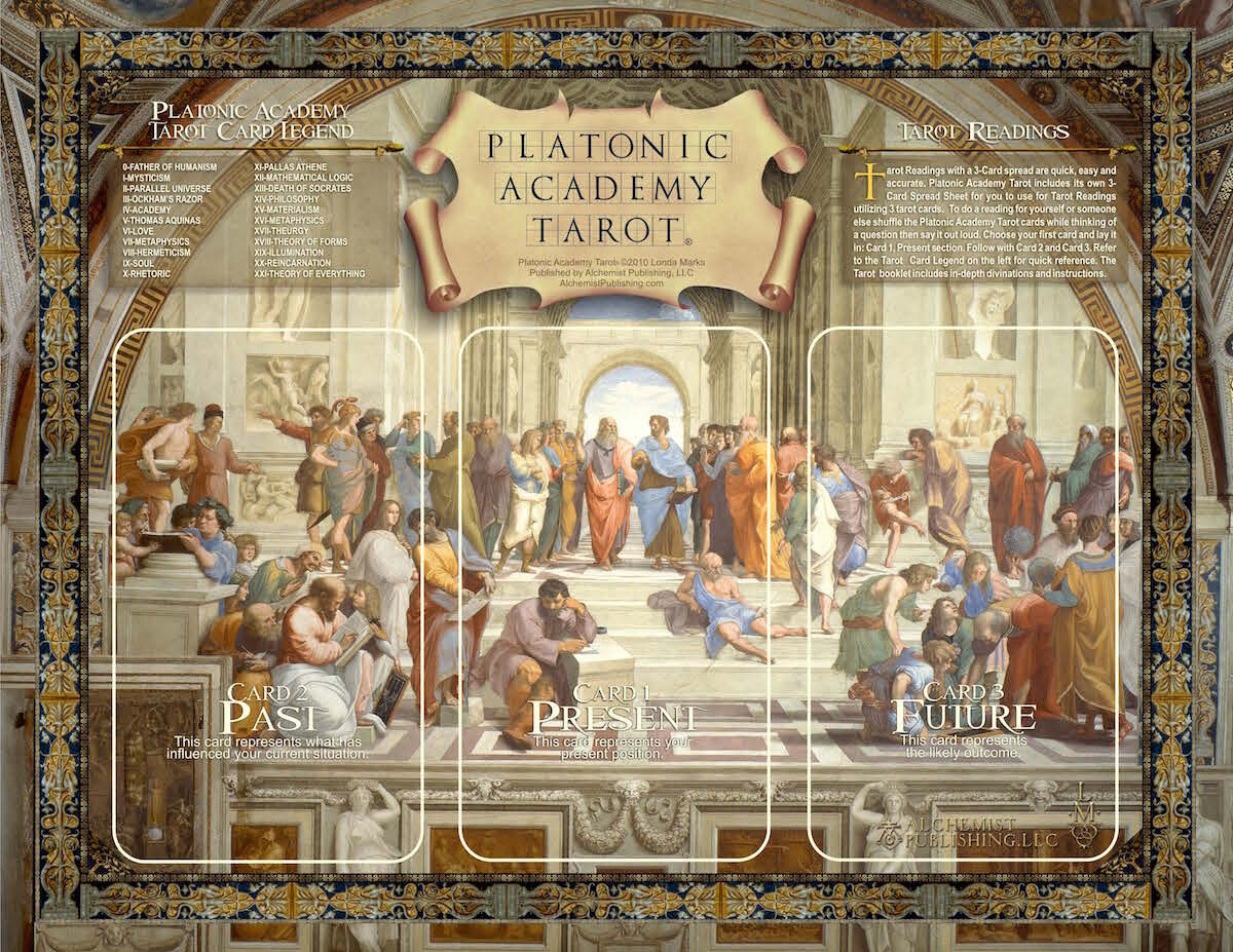 Platonic Academy Tarot 3-Card Layout Sheet