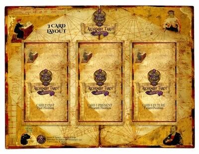 Alchemist Tarot Revealed 3-Card Layout Sheet