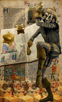 Page Of Dice, Tarot Print