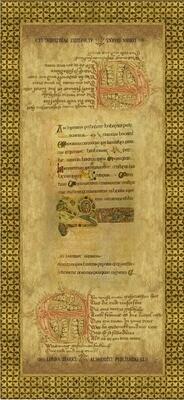 Rinascimento Tarocchi Card Back, Tarot Print
