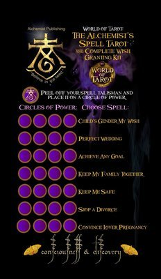 The Alchemist's Spell Tarot & Complete Wish Granting Kit Activation Stickers