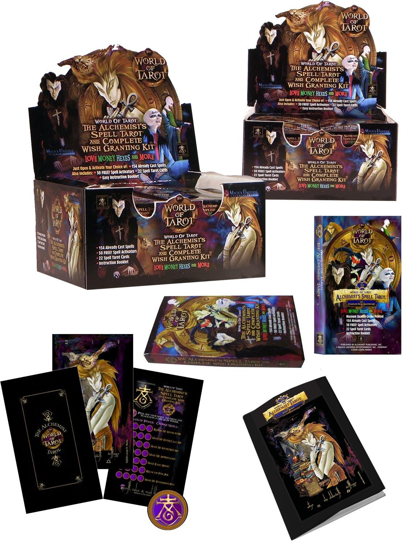 The Alchemist's Spell Tarot & Complete Wish Granting Kit - 10-Deck Counter Display