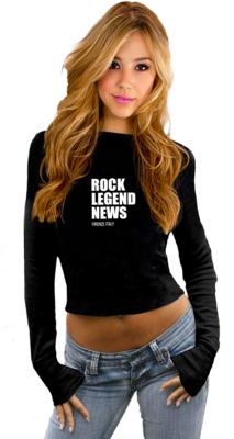 Rock Legend News Crop Sweatshirt