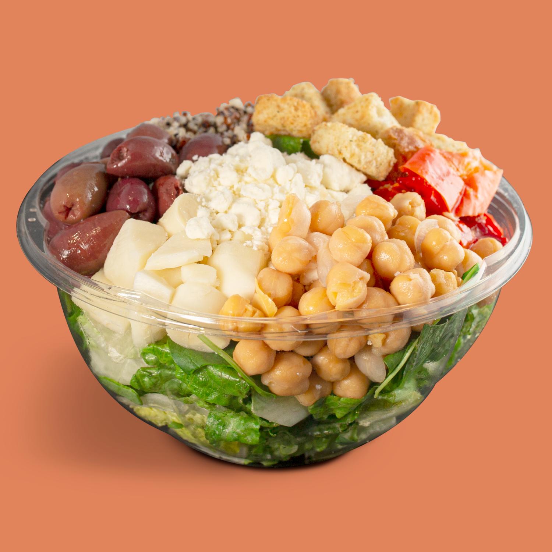 FULL Vegan Mediterranean Salad