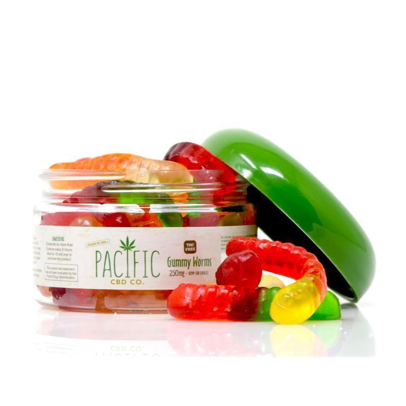 Pacific Gummies Worms 250mg