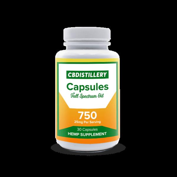 CBDISTILLERY FULL SPECTRUM BANDED CAPSULES - 25 MG / 30 CT