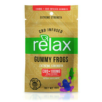 DIAMOND RELAX EXTREME STRENGTH GUMMY FROGS 100MG